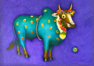 Db-blue-spotted-bull-original-painting
