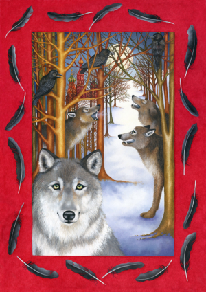 Db-howling-with-the-wolves-original-painting
