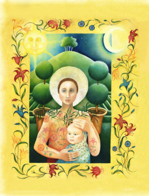 Db-madonna-of-the-flowers-original-painting